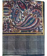 ADOLFO Long Paisley and Glen Plaid Silk Scarf - $11.99