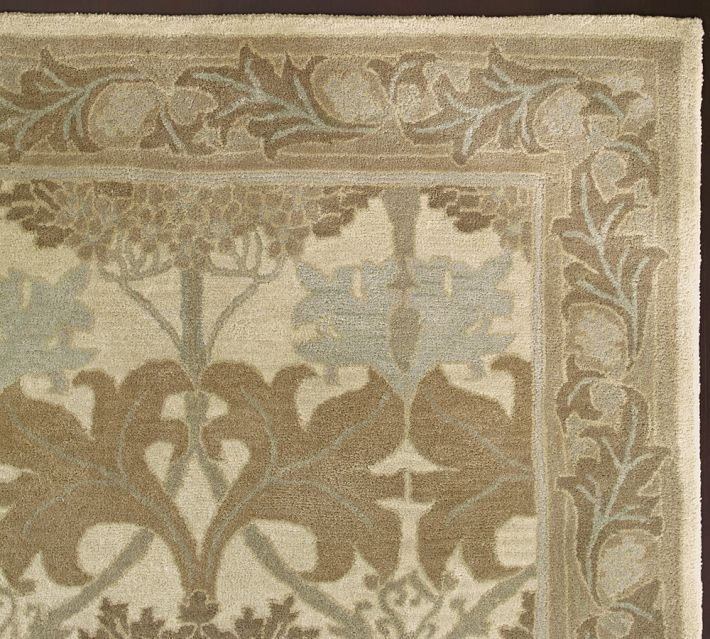 New Pottery barn Handmade Persian CECIL Natural Area Rug 5x8