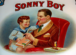 Sonny Boy Embossed Inner Cigar Label, 1910's - $5.99