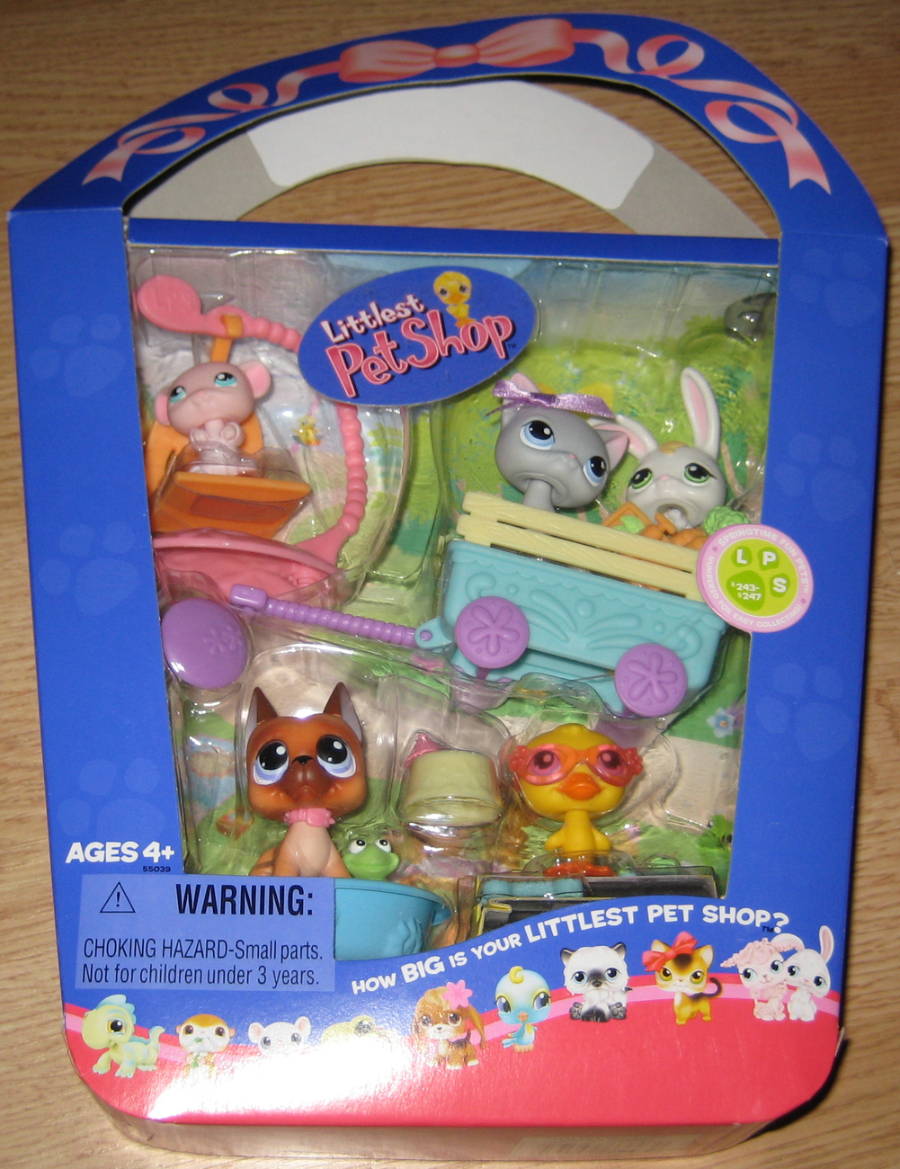 Littlest Pet Shop 2006 Spring Basket #243-247 MIB