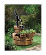 PUMP and  BARREL FOUNTAIN  and planter trio y... - $149.99