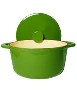 Green Round Enamel Cast Iron Dutch Oven 4 1/4- ... - $69.99