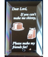 Mirrored Plaque Musical Brass Stand Dear Lord C... - $12.95