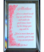 Mirrored Plaque Musical Wood Stand Mother Theme... - $14.95