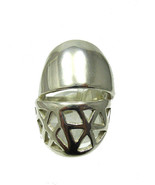 R001317 Stylish Long Heavy STERLING SILVER Ring... - $42.60