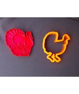 Lot of 2 Turkey Cookie Cutters for Thanksgiving - $2.50