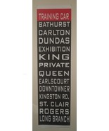 Toronto TTC Streetcar Cloth Roll Sign