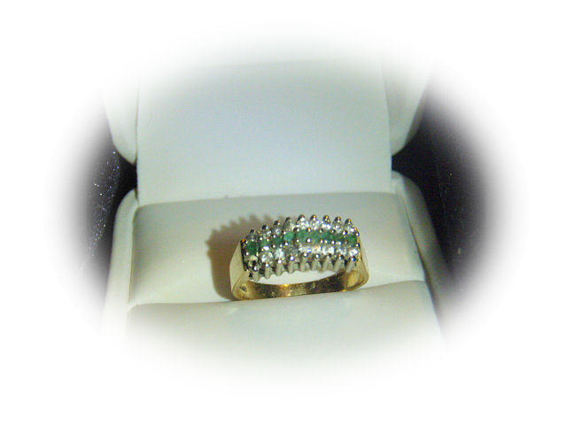 Genuine Columbian Emerald Diamond Ring! 14kt Match Maker to Stairway to Heaven!