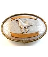Vintage Silver Rooster Cock Western Cowboy Belt... - $164.99