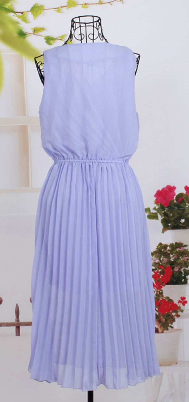 2012_spring_summer_chiffon_dress_pleated_lavender_back_hang