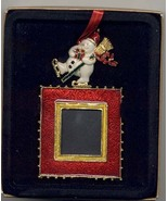 Snowman Topped Picture Frame Christmas Decoration - $7.00