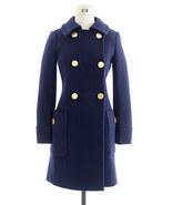NEW J CREW Wool STADIUM-CLOTH MOD COAT trench 6... - $179.99