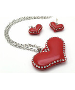 3D Large Charm red heart outlined in crystal 1 ... - $15.00