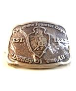 Vintage Cheyenne Frontier Days Western Buckle b... - $64.99