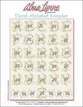 Floral Alphabet Sampler cross stitch chart Alma... - $7.00