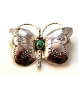 Signed Navajo Native American Sterling Turquois... - $124.99