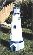 Garden Lighthouse Plans http://www.bonanza.com/listings/Lighthouse-PLANS-5ft-yard-garden-use-solar-light/12905437