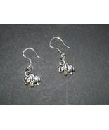Alabama Silver Tibetan Elephant Charm Earrings... - $3.99