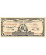 One Dollar U.S. Postal Savings Certificate, 1938 Issue - $135.00