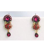 Signed ADAYA Maya Micro Mosaic Earrings - $36.00