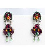 Signed ADAYA Maya Micro Mosaic Earrings - $55.00