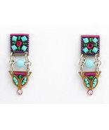 Signed ADAYA Maya Micro Mosaic Earrings - $35.00