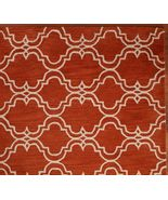 Brand New Pottery Barn SCROLL TILE ORANGE Persian Style Area Rug Carpet 9X12