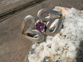 Mexico Amethyst Bracelet Sterling Silver Mexico... - $225.00