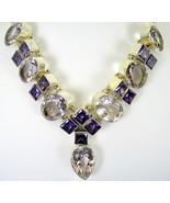 Wedding ready Lilac + Purple Amethyst Sterling ... - $425.28