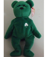 Ty Beanie Babies NWT Erin the Green Bear Retired - $6.00