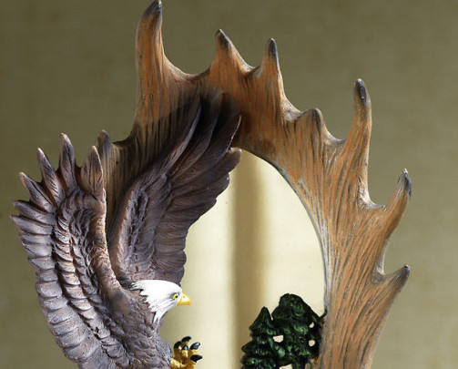 Image 1 of Northwoods Eagle Table Top Mirror Decoration
