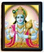 Hindu God Vishnu Cigarette ID Case Hand Out Pose - $9.29