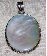 Mother of Pearl Sterling Silver Pendant - $22.00