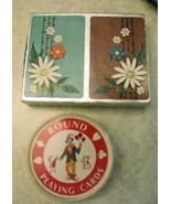 Milway Pinochle Playing Cards and Round Deck in... - $9.99
