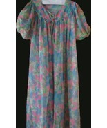 Vintage Multicolor Nightgown and Peignoir Set - $15.48