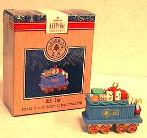 Buy hallmark gifts - Hallmark Tree Ornament Mini TRAIN Gift Car 1785a