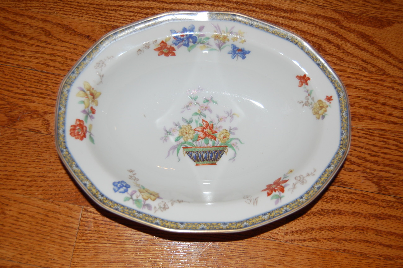 Haviland Ganga Oval Vegetable Bowl 9.25""