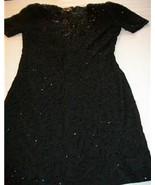 WOMEN LIFE & STYLE BEADED BLACK EVENING DRE... - $17.99