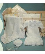 RARE~FAN & FEATHER CHRISTENING LAYETTE KNITTING... - £3.04 GBP