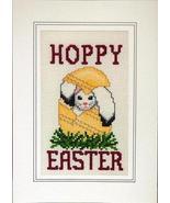 Hoppy Easter holiday cross stitch card chart Li... - $5.40