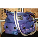Coach Poppy Pocket Hobo Violet Ombre 14567 EUC HTF T - $323.00