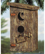 Outhouse Birdhouse Poly Resin - $19.95