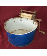 Antique Toy Wash Tub and Wringer
