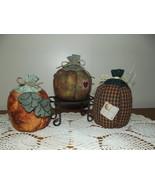 Handmade Fall Stuffed Pumpkins Country Rustic P... - $27.97