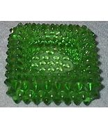 Green Hobnail Square Candle Holder - $5.95