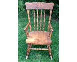 Buy Antique OAK Child's Rocking Chair ~ Nice details