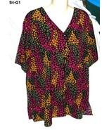 Jaclyn Smith Plus Size 18w Multi Color Blouse - $8.99