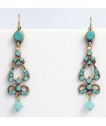 Edwardian Style Earrings Swarovski Crystals Rep... - $48.00