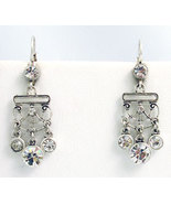 Victorian Style Earrings Swarovski Crystals Rep... - $34.00