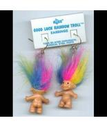 Russ Retired-TROLL DOLL EARRINGS-Tiny Retro Luc... - $14.97